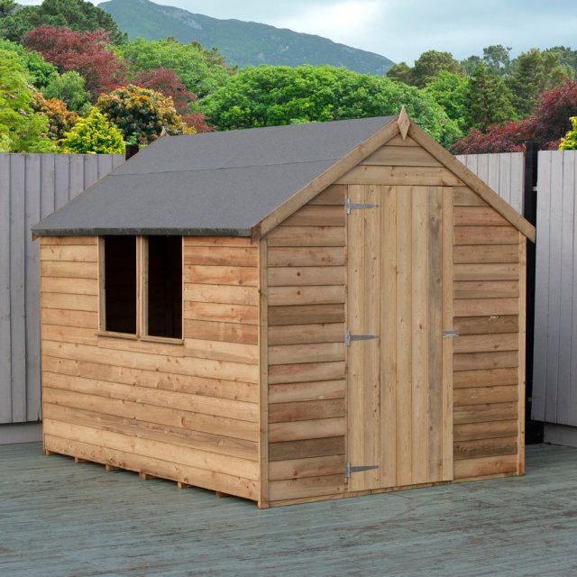 8 x 6 Shire Value Overlap Shed - Pressure Treated