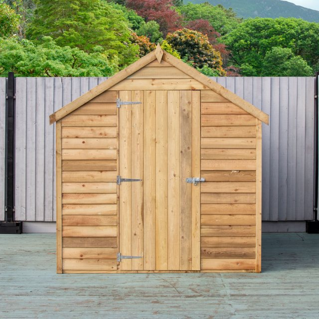8 x 6 Shire Value Overlap Shed - Pressure Treated - Front on door closed