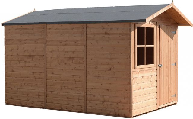 10x7 Shire Tongue and Groove Shed - isolated with showing left hand side elevation
