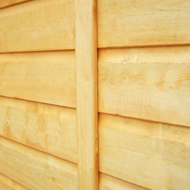 3 x 6 Shire Tongue and Groove Pent Bike Store - shiplap wall cladding