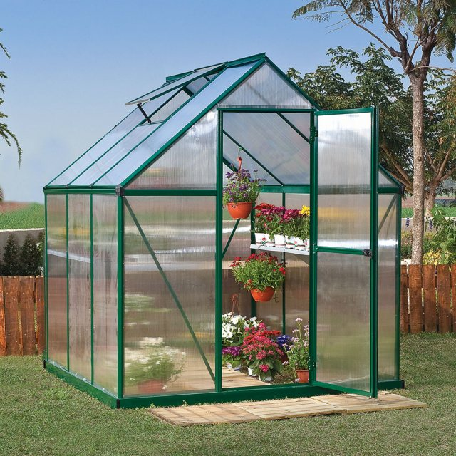 6 x 6 Palram Mythos Greenhouse in Green