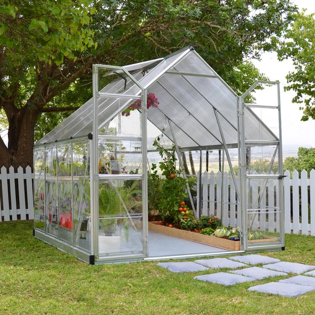 8 x 8 Palram Balance Greenhouse in Silver