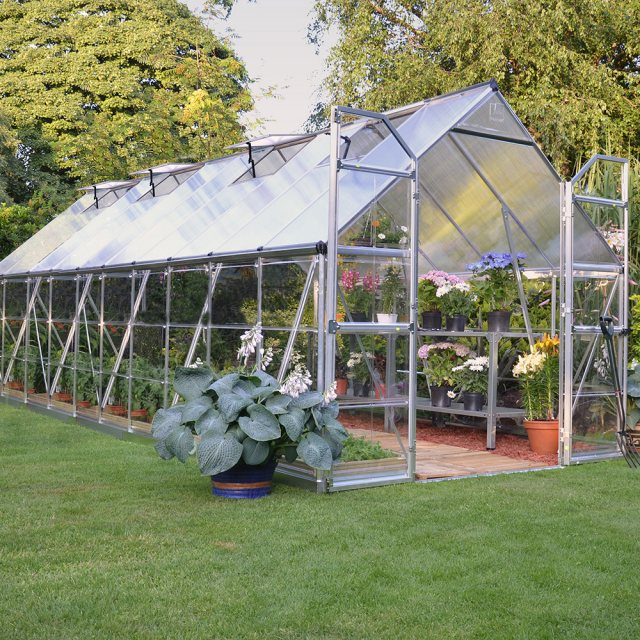 8 x 20 Palram Balance Greenhouse in Silver