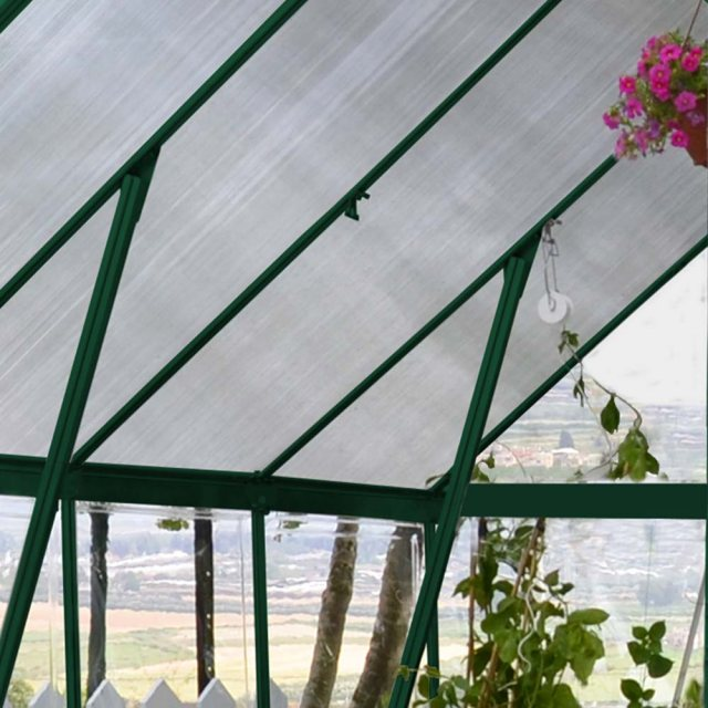 8 x 20 Palram Balance Greenhouse in Green - reinforced structure