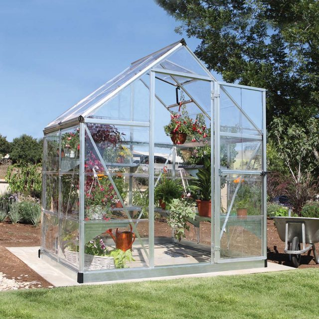 6 x 4 Palram Harmony Greenhouse in Silver