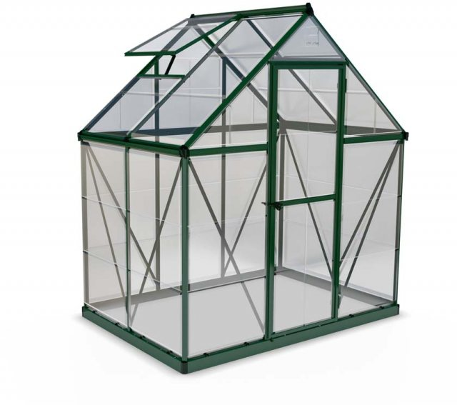 6 x 4 Palram Harmony Greenhouse in Green - isolated view