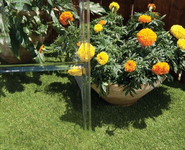 Palram Harmony Greenhouse in Silver - crystal clear glazing