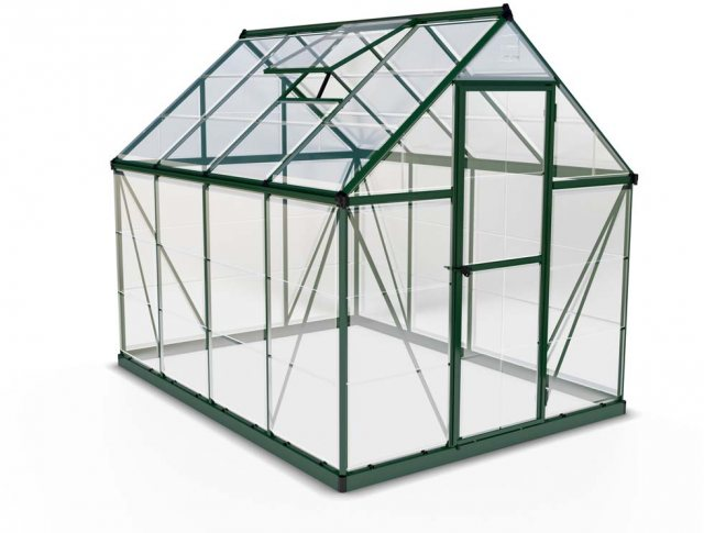 6 x 8 Palram Harmony Greenhouse in Green - isolated view