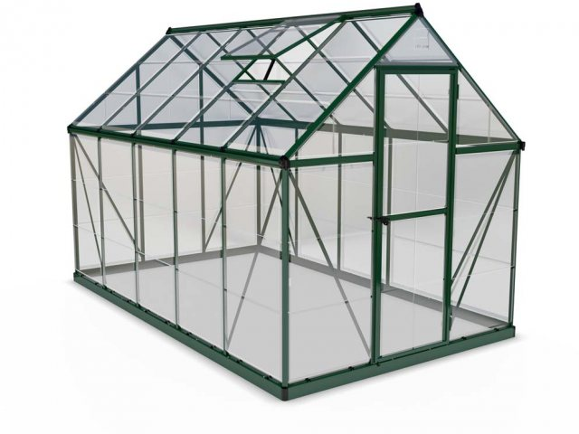 6 x 10 Palram Mythos Greenhouse in Green - isolated view