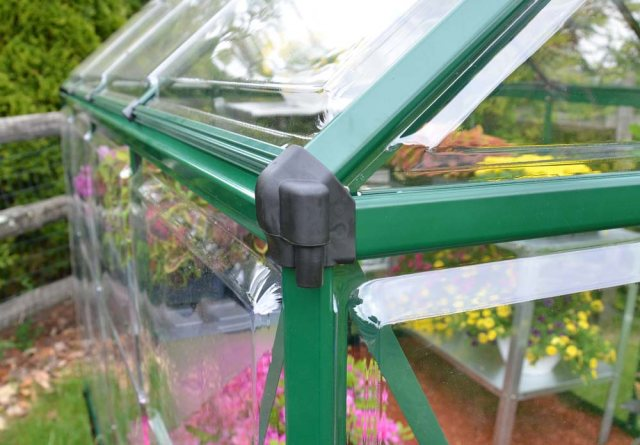 Palram Harmony Greenhouse in Green - Integral Gutter