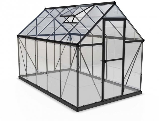 6 x 10 Palram Harmony Greenhouse in Grey - isolated view