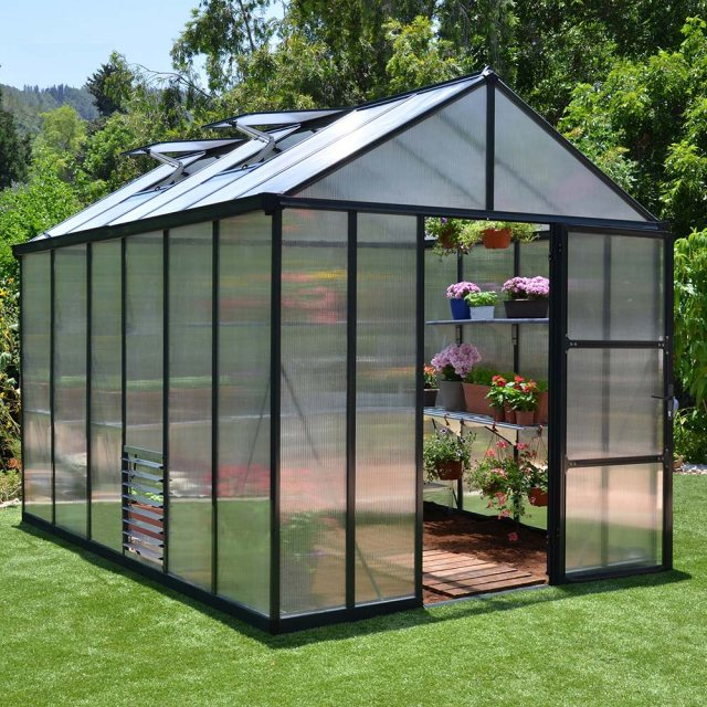 8 x 12 Palram Glory Greenhouse in Anthracite