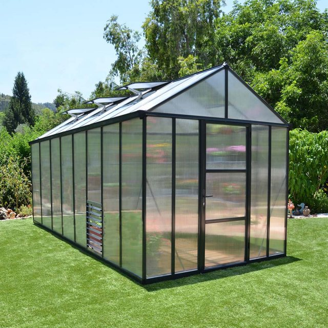 8 x 16 Palram Glory Greenhouse in Anthracite