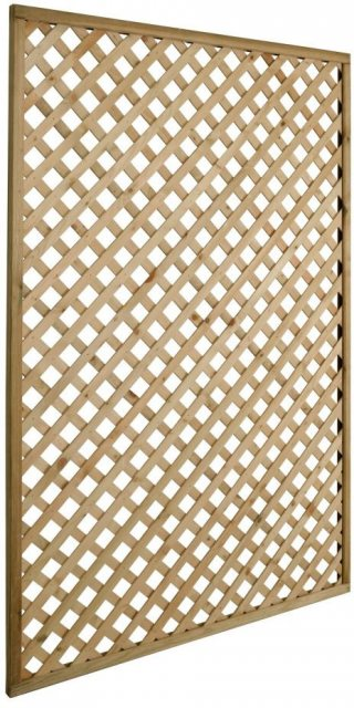 4ft High Forest Rosemore Lattice Trellis - Pressure Treated - isolated side view