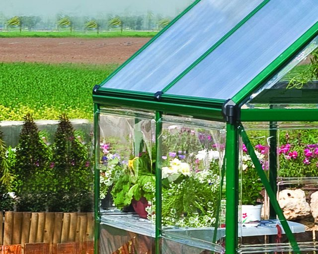6 x 4 Palram Hybrid Greenhouse in Green