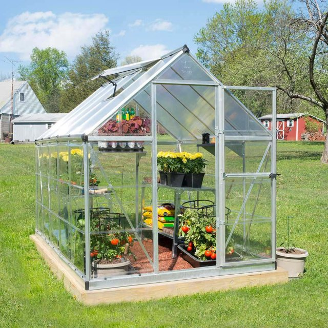 6 x 10 Palram Hybrid Greenhouse in Silver