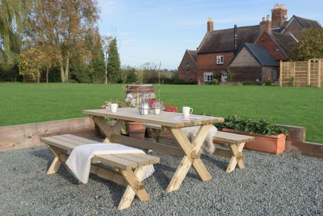 Grange Classic Garden Table and Bench Set