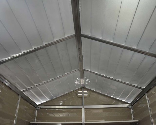 6x10 Palram Skylight Plastic Apex Shed - Tan - skylights