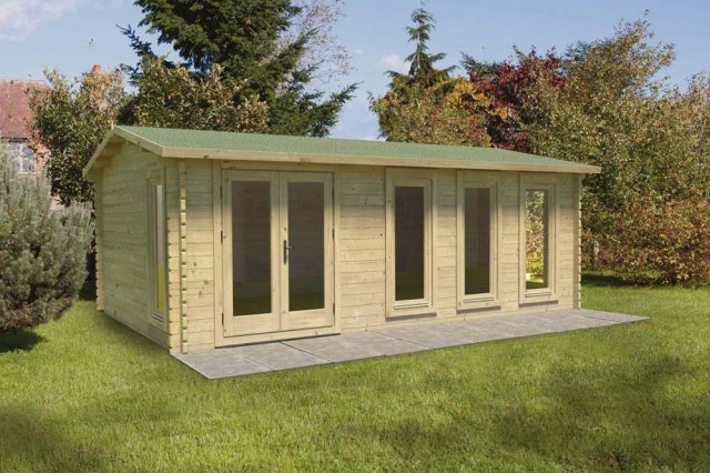 13 x 10  Forest Blakedown Log Cabin - in situ