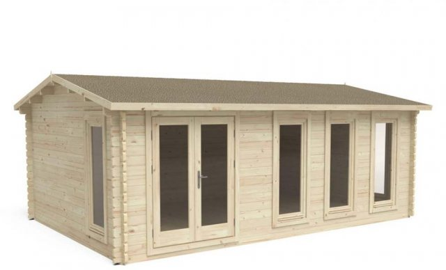 13 x 10  Forest Blakedown Log Cabin - 3/4 view