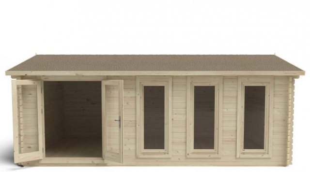 13 x 10  Forest Blakedown Log Cabin - front view doors open