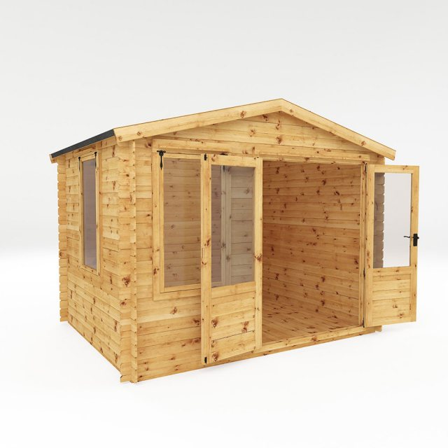 2.6m x 3.3m Mercia Log Cabin 19mm Logs - dimensions