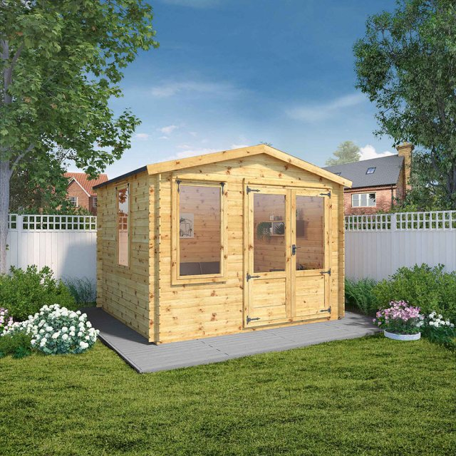 3.3m x 3m Mercia Log Cabin 19mm Logs