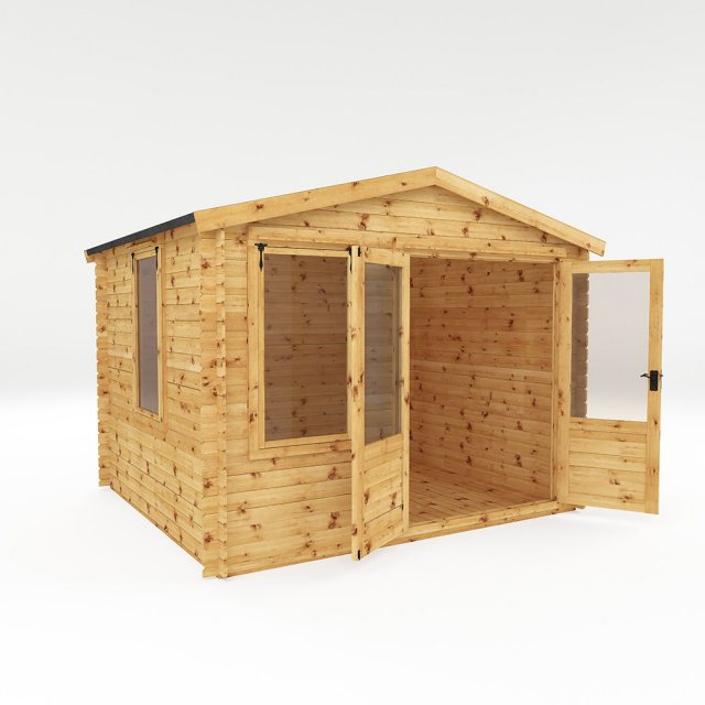 3.3m x 3m Mercia Log Cabin 19mm Logs - dimensions
