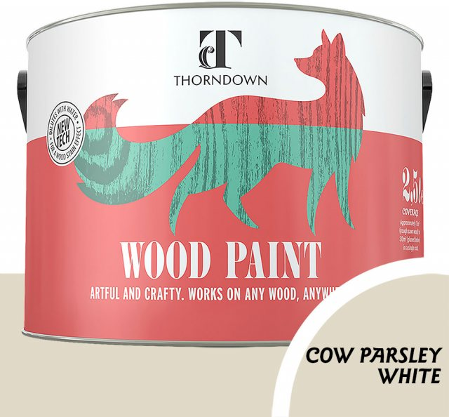 Thorndown Wood Paint 2.5 Litres - Cow Parsley White- Pot shot