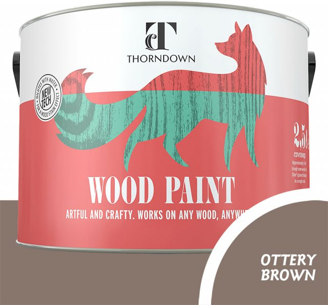 Thorndown Wood Paint 2.5 Litres - Ottery Brown - Pot Shot