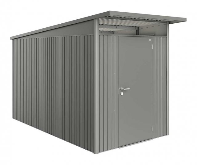 6 x 12 Biohort AvantGarde A4 Metal Shed - Single Door - Metallic Quartz Grey