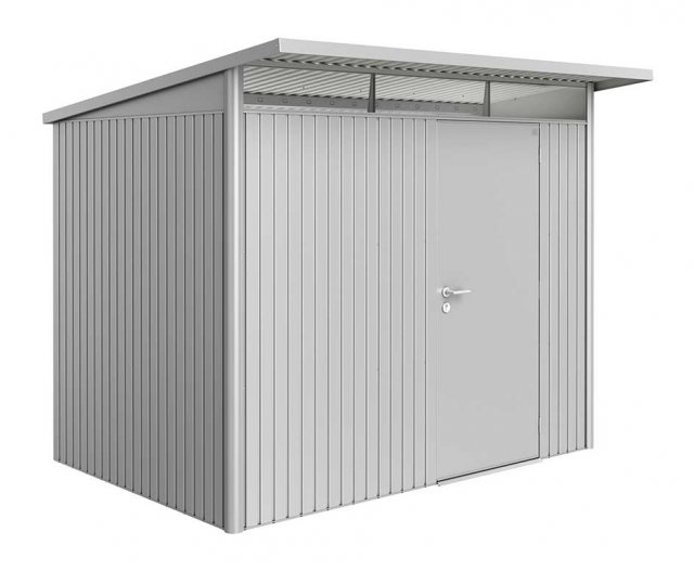 8 x 7 (2.60m x 2.20m) Biohort AvantGarde A5 Metal Shed - Single Door