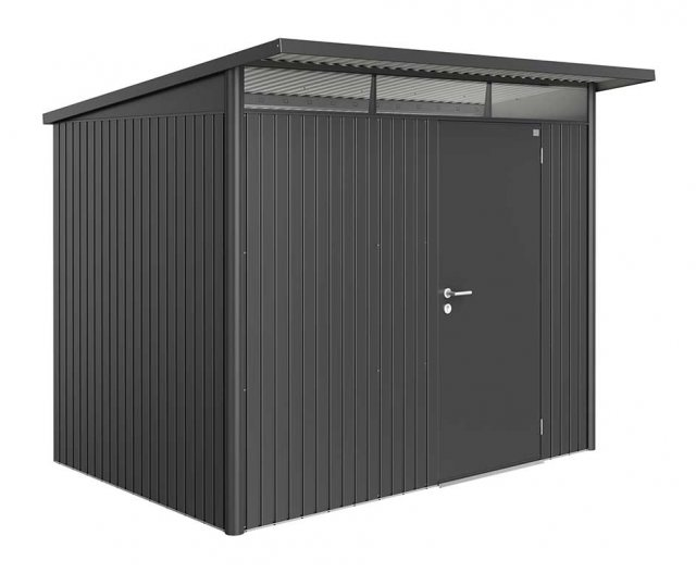 8 x 7 Biohort AvantGarde A5 Metal Shed - Single Door - Metallic Dark Grey
