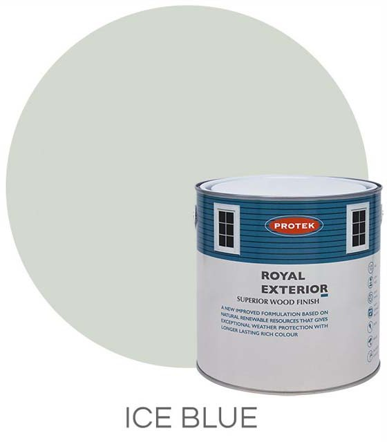 Protek Royal Exterior Paint 1 Litre - Ice Blue