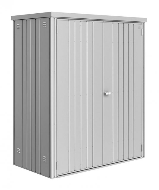 5 x 3 (1.55m x 0.83m) Biohort Equipment Locker 150 - Metallic silver