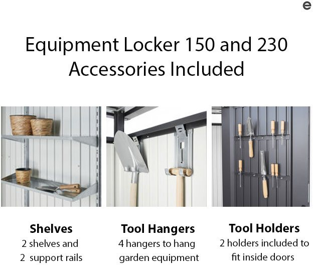 Biohort Equipment Locker 150 - Accessories included