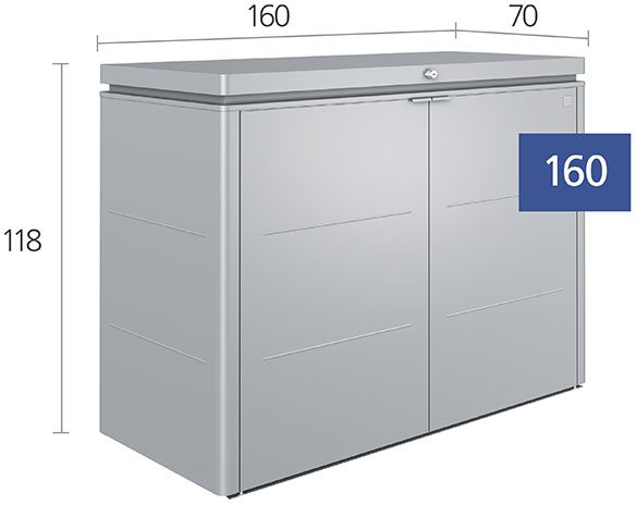 5 x 2 Biohort HighBoard 160 - Dimensions