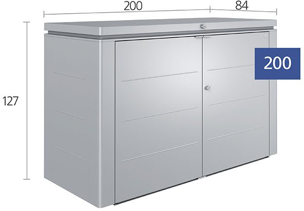 7 x 3 Biohort HighBoard 200 - Dimensions
