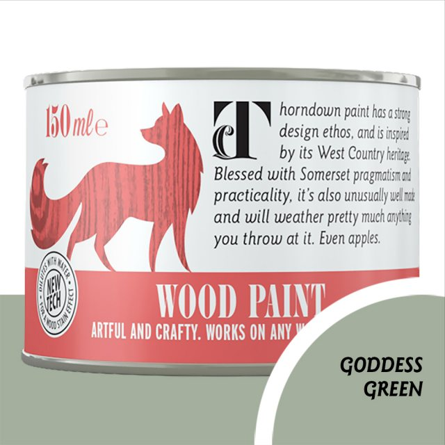 Thorndown Wood Paint 150ml - Goddess Green - Pot shot