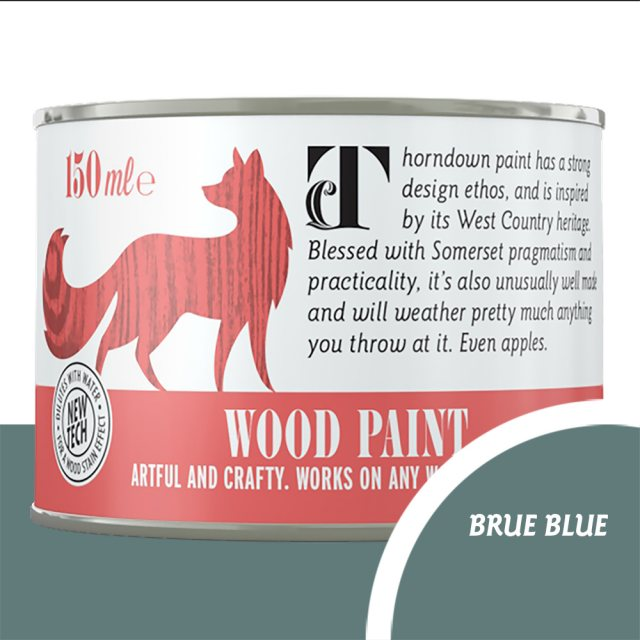 Thorndown Wood Paint 150ml - Brue Blue - Pot shot