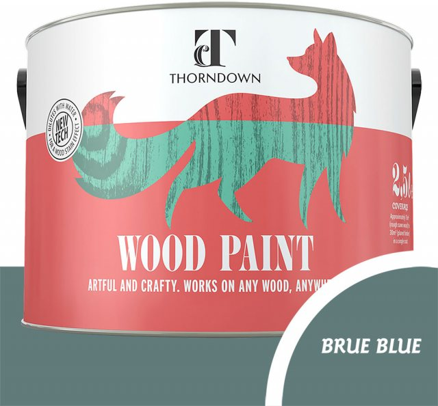Thorndown Wood Paint 2.5 Litres - Brue Blue - Pot shot