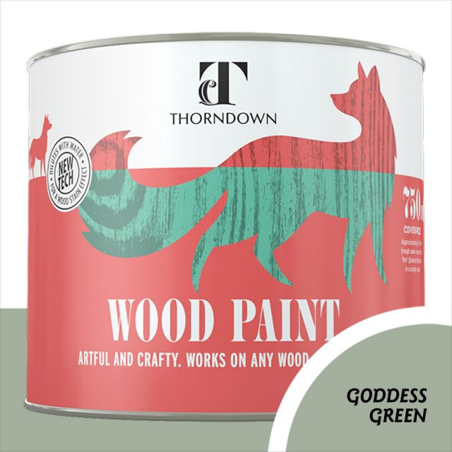 Thorndown Wood Paint 750ml - Goddess Green - Pot shot
