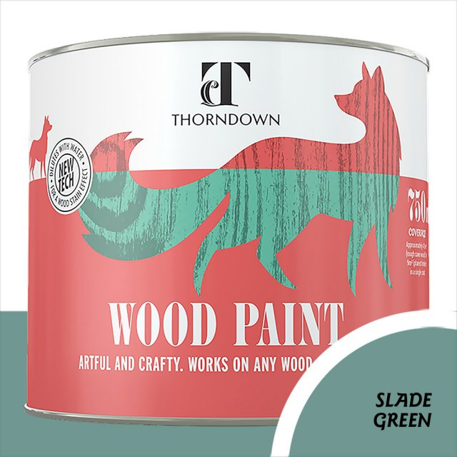 Thorndown Wood Paint 750ml - Slade Green - Pot shot
