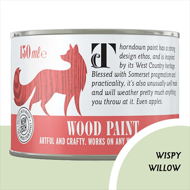 Thorndown Wood Paint 150ml - Wispy Willow - Pot shot