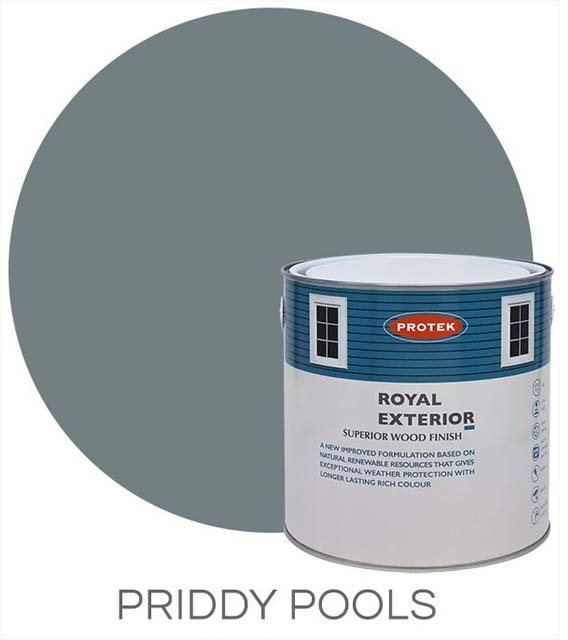 Protek Royal Exterior Paint 2.5 Litres - Priddy Pools Colour Swatch with Pot