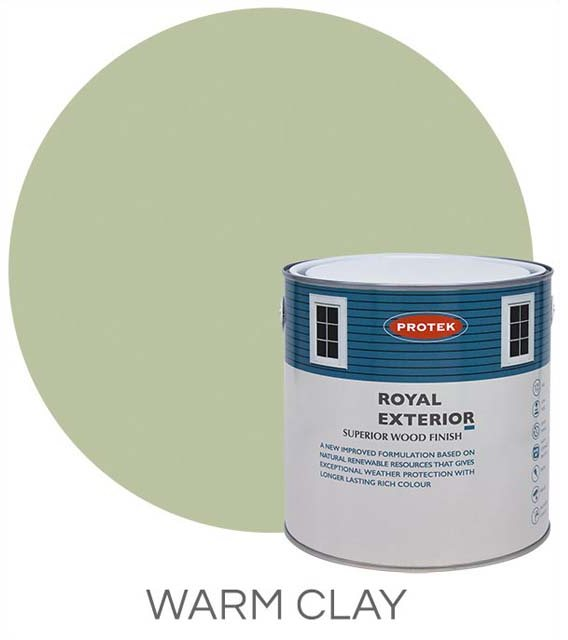 Protek Royal Exterior Paint 2.5 Litres - Warm Clay Colour Swatch with Pot