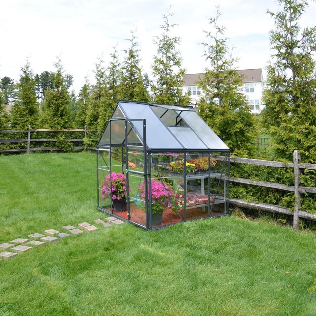 6 x 6 Palram Hybrid Greenhouse in Grey
