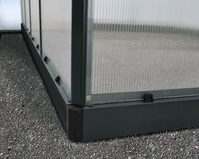 Palram Hybrid Greenhouse in Grey - galvanised steel base aids stability