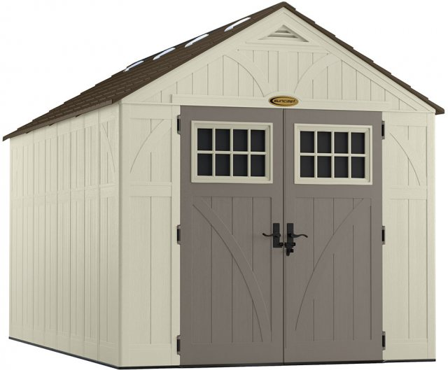 8x13 Suncast Tremont Plastic Shed - isolated background
