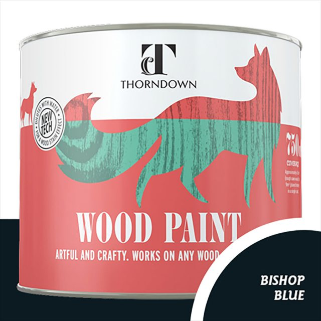 Thorndown Wood Paint 750ml - Bishop Blue - Pot shot